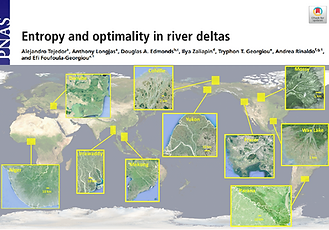 Tejedor2017 Entropy and optimality in river deltas