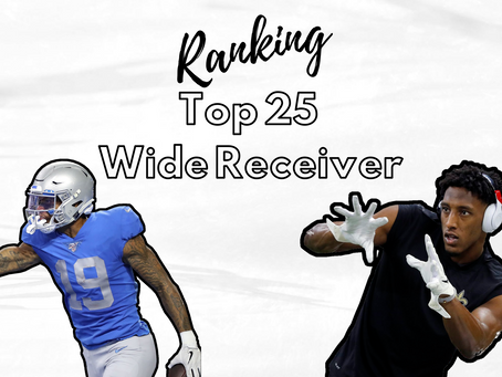 Ranking - Unsere Top 25 Wide Receiver 2020