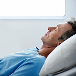 Calm breathing when asleep