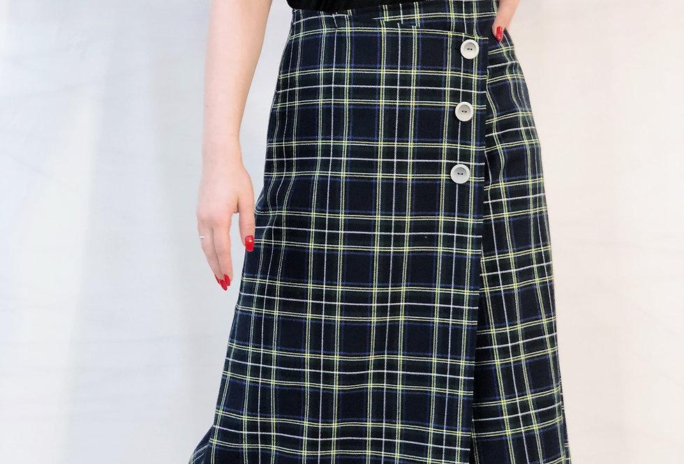 Ассиметричная юбка миди на запах