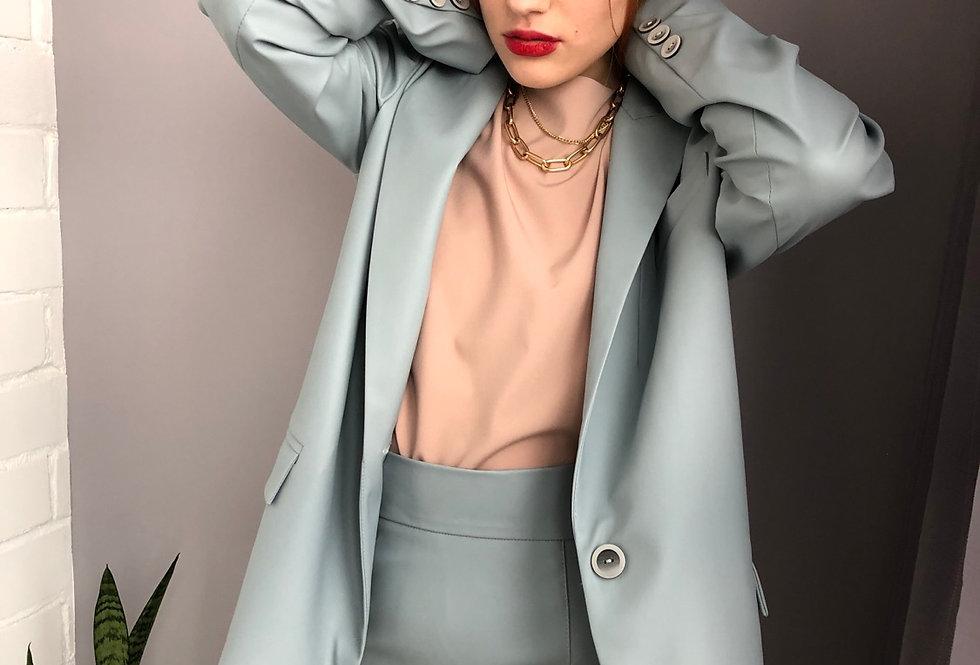 Пиджак из эко-кожи