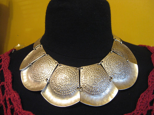 Egyptian sterling silver/pewter breast plate