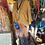 Thumbnail: Brown/lapis TD wrap skirt