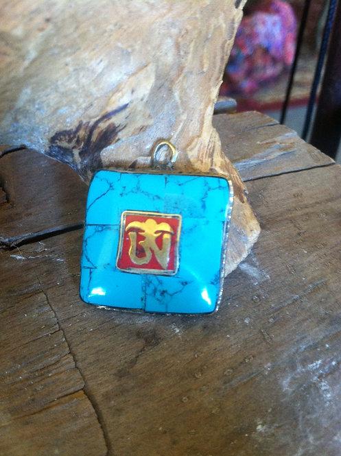 Turquoise OM pendant