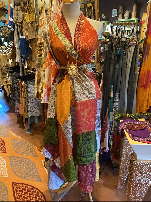 Sari wrap skirt and halter