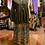 Thumbnail: Gold and olive painted wrap skirt