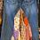 Thumbnail: Sari silk patch jean skirt