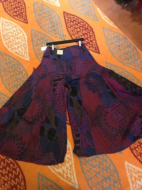 Wide leg panel pants