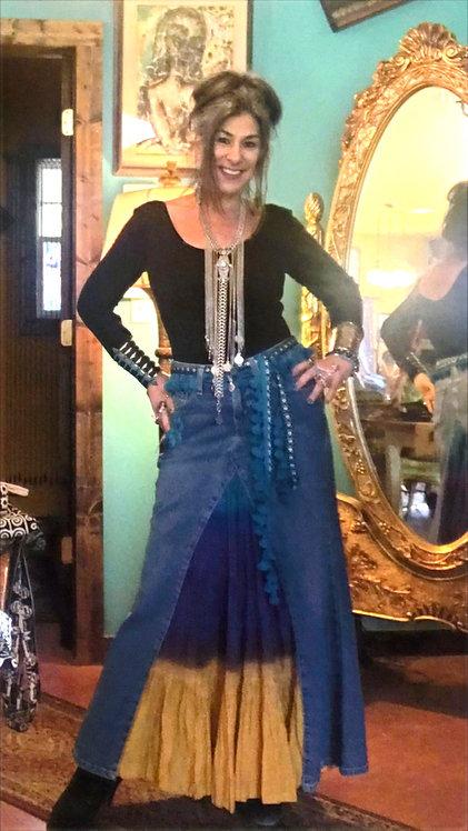 Jean Skirt Purple/gold