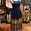 Thumbnail: Blue and olive Indian skirt