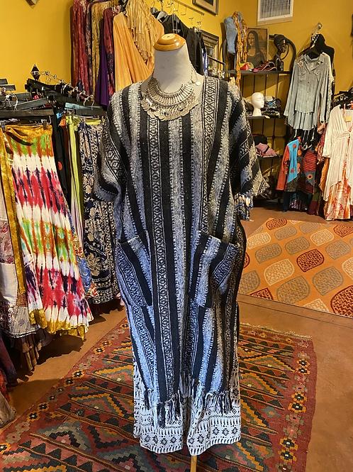 Long poncho dress