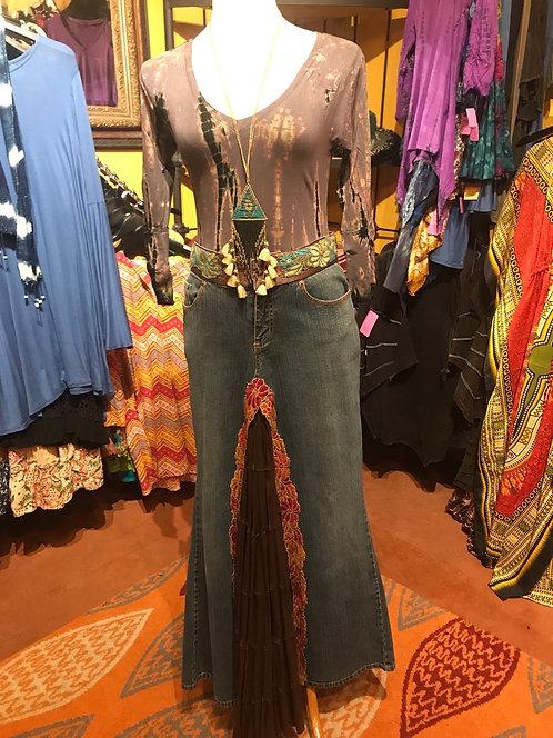 Original Jean skirt, brown