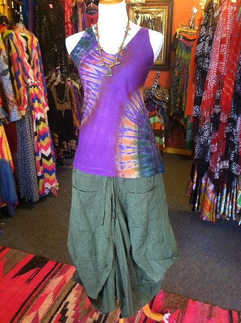 Olive Baggy Skirt