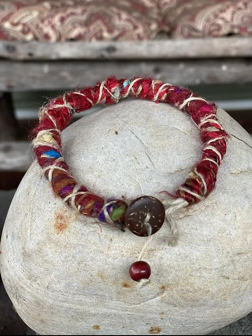 African fabric bracelets