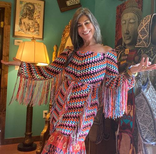 Fringe tunic dress/top