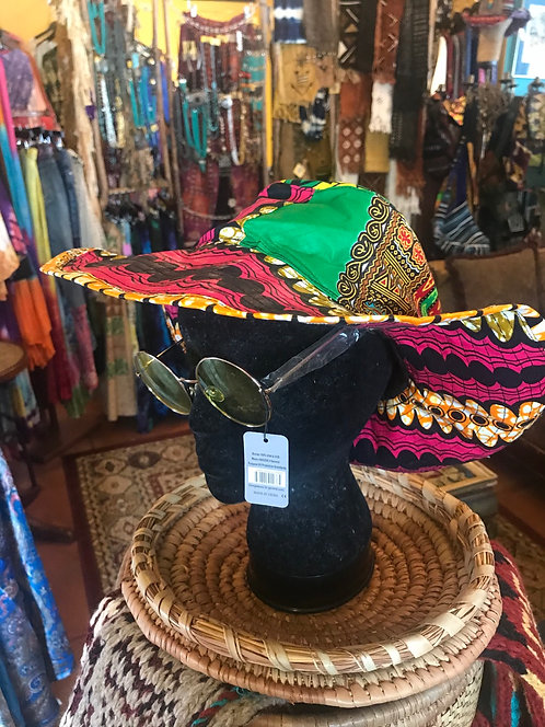 Colorful floppy hat