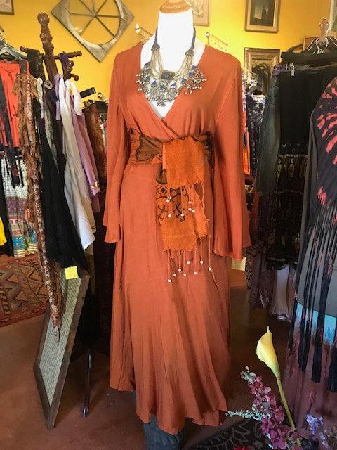 Signature Wrap Dress Rust