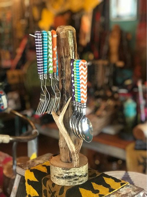 Antler silverware caddy