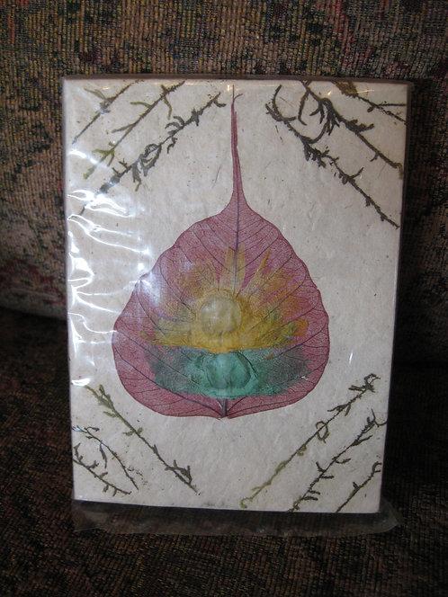 White journal w/TD Leaf
