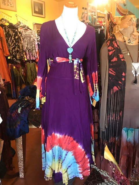 FHCB Signature Wrap Dress Purple Tie Dye
