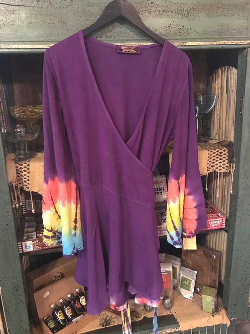Signature wrap tunic