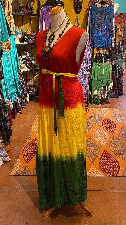 Rasta wrap dress