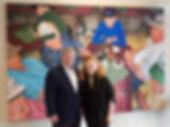 """Diner Deals"", Oil On Canvas, 2005, 9 feet x 6 feet, copyright 2016"