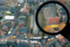 Luftbild Ortskern Raesfeld mit dem Alkeshof