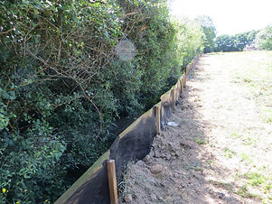 Great crested newt exclusion fencing