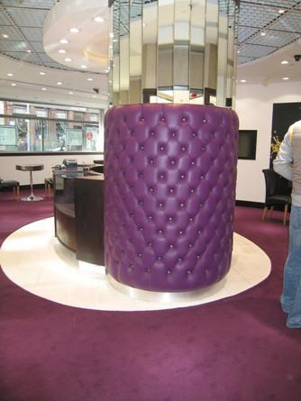 Upholstered Concrete Pillar