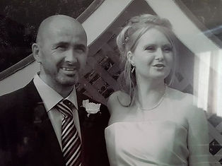 David Smith and Wendy Smith on their wedding day