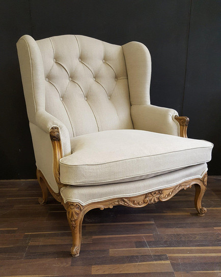 Traditional Antique Wing Chair