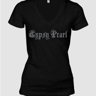 "Womens Gypsy Pearl ""Logo"" V-Neck T-Shirt"