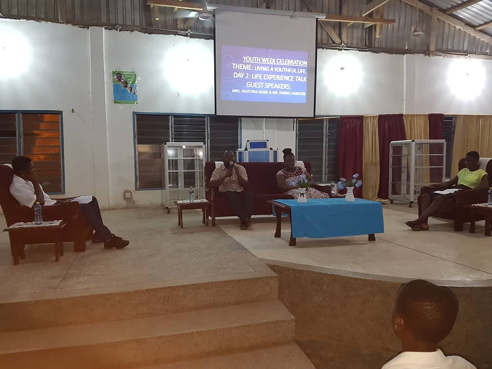 Mr. Sarkodie and Mrs. Asare during the life experience talk