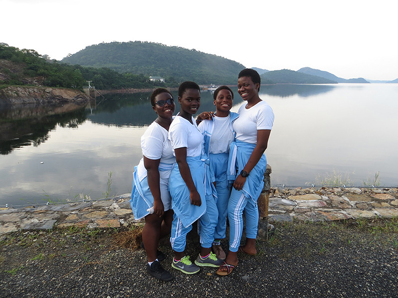 Some Students at Akosombo Dam Site