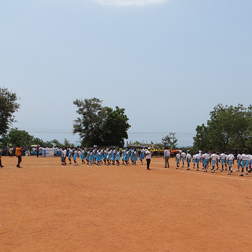 Children & Students Celebrate Ghana's Independence Day with Parade & March-past