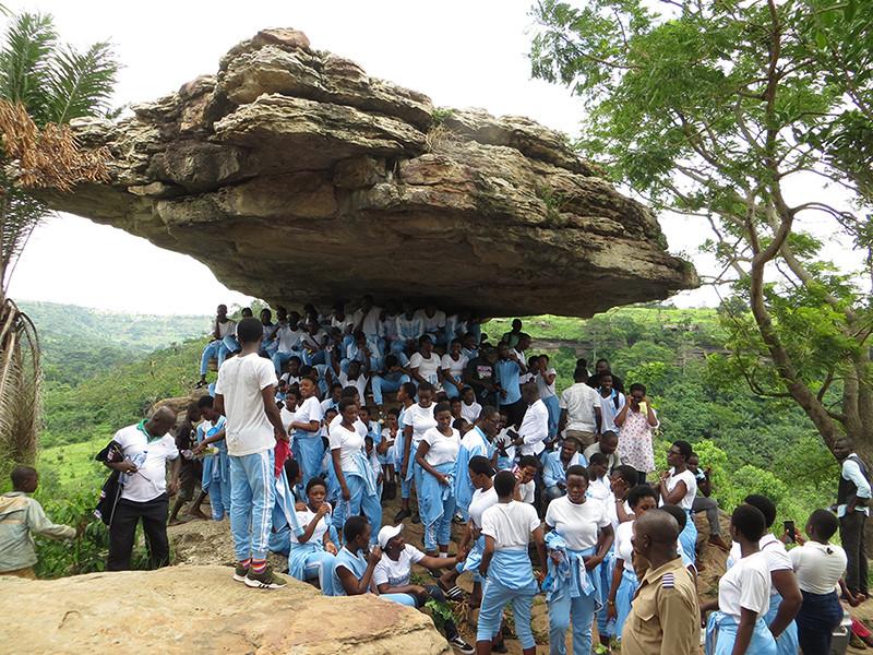 Students at the Umbrella Rock