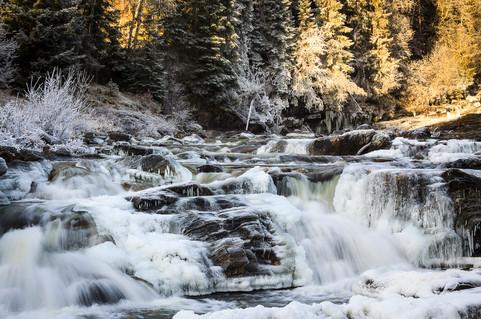 Frusen bäck, Norge