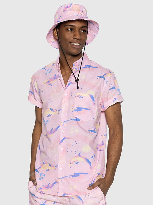 Pink Dolphin Button Up