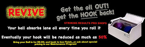 Get the Oil Out with Revive Ball Maintance