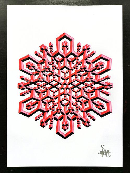"""Hyperflake"" original drawing"