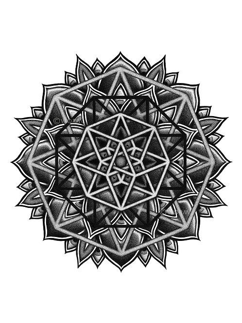 """fractal intent"" print"