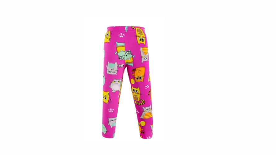 Леггинсы для девочек с котиками цвет фуксия
