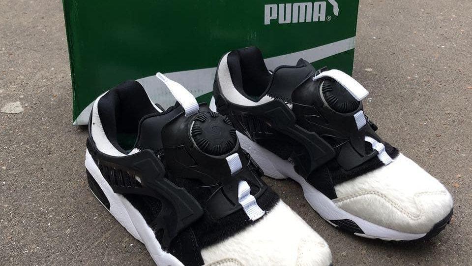 Кроссовки Puma черно белые