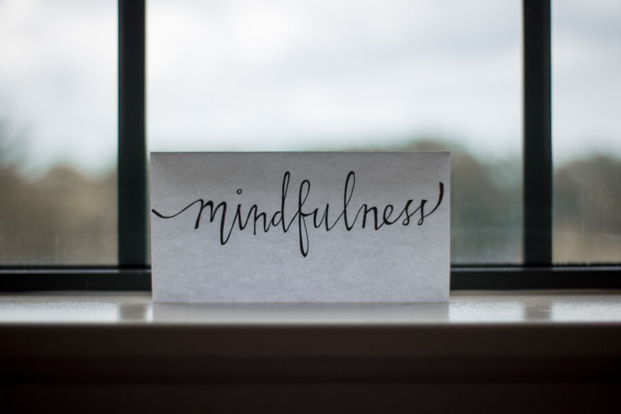 A sign that says 'mindfulness'