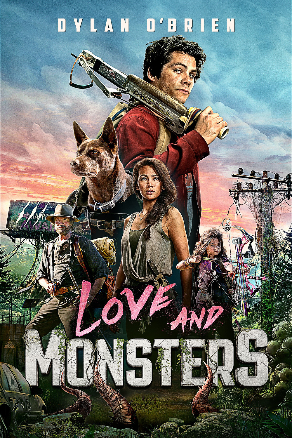 Promotional poster for the movie 'Love and Monsters'