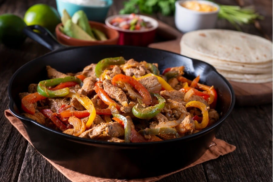 frugal dinner ideas chicken fajitas