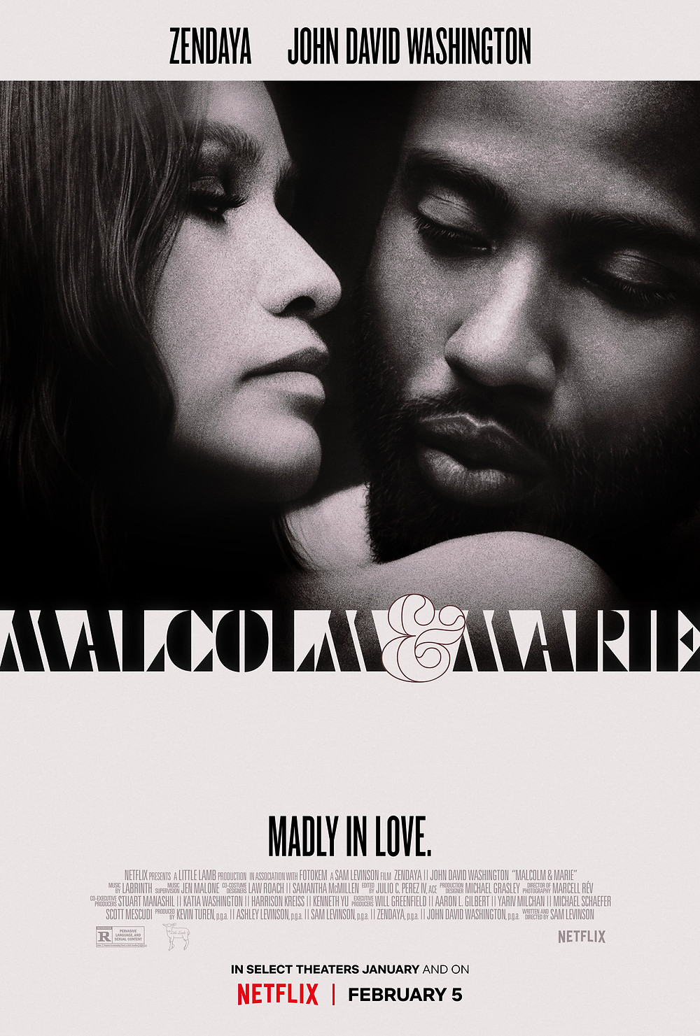 Promotional poster for the movie 'Malcolm & Marie'