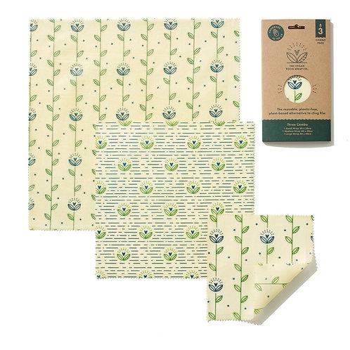Harvest Print vegan wax wraps