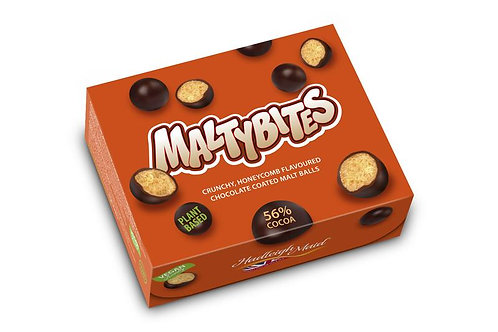 Malty Bites - Honeycomb Flavoured Choc-coated malt balls - 120g box